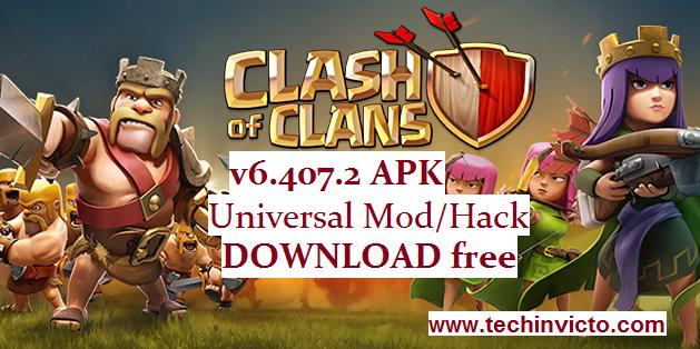 Clash of Clans v6 407 2 APK Universal Mod/Hack Download